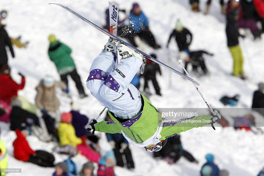 Miki Ito of Japan takes 2nd place during the FIS Freestyle Ski World Championship Men's and Women's Moguls on March 06, 2013 in Voss, Norway.