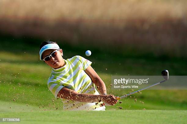 Miki Saiki during a practice day at the Ricoh Women's British Open held on the Sunningdale Golf Club's Old Course in Sunningdale England