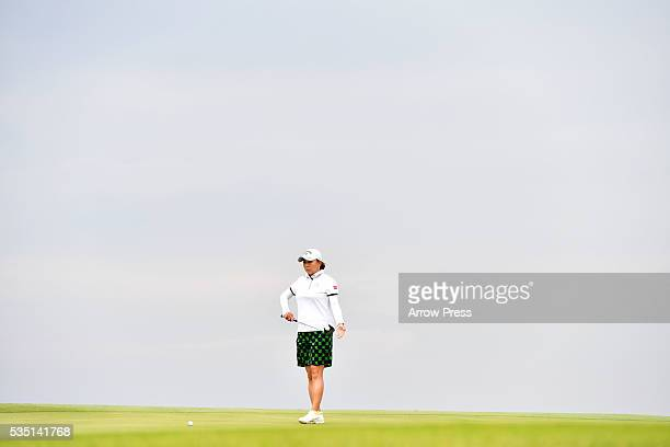 Miki Saiki of Japan looks on during the Final round of the Resorttrust Ladies at the Grandee Naruto Golf Club XIV on May 29 2016 in Naruto Japan