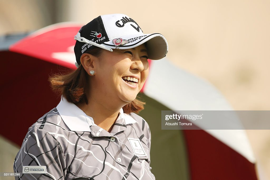 <a gi-track='captionPersonalityLinkClicked' href=/galleries/search?phrase=Miki+Saiki&family=editorial&specificpeople=4443719 ng-click='$event.stopPropagation()'>Miki Saiki</a> of Japan smiles during the first round of the Hoken-no-Madoguchi Ladies at the Fukuoka Country Club Ishino Course on May 13, 2016 in Fukuoka, Japan.