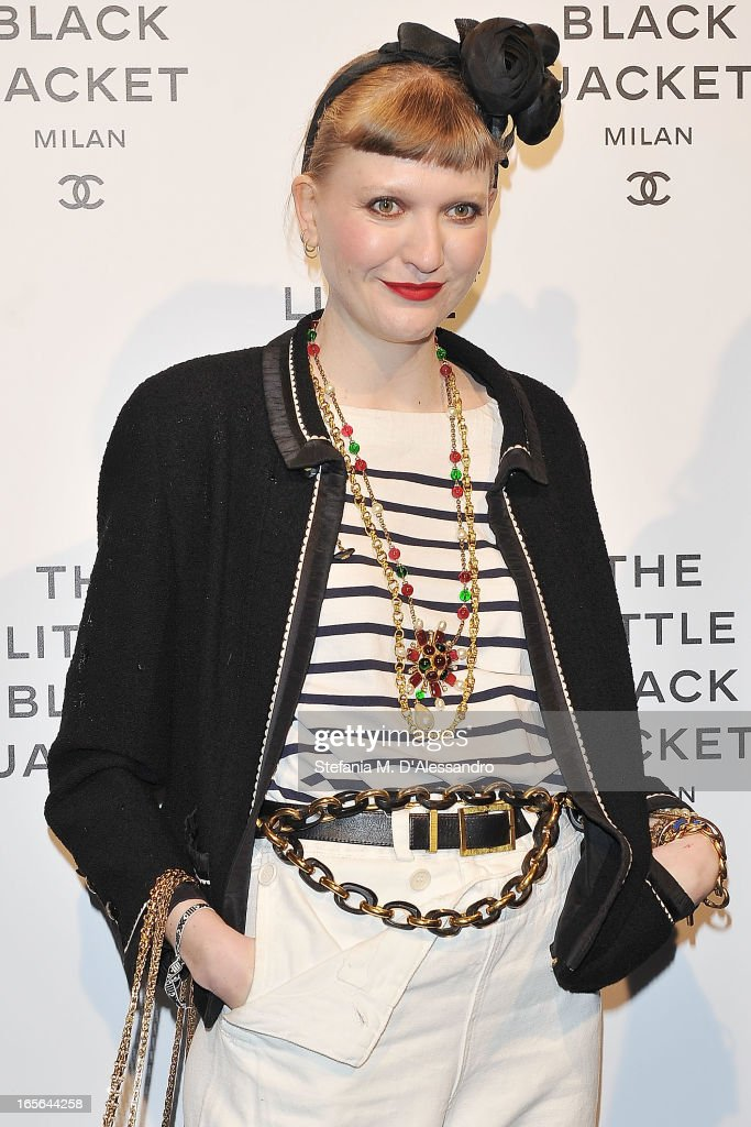 Miki Zanini attends Chanel The Little Black Jacket - Karl Lagerfeld Photography Exhibition Dinner Party on April 4, 2013 in Milan, Italy.