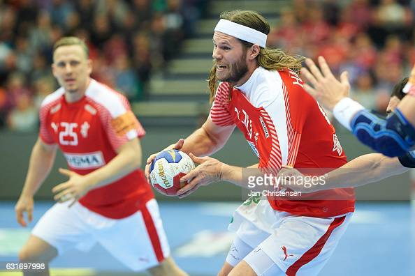Mikkel Hansen Of Denmark In Action During The Bygma Cup Match Picture Rene Toft