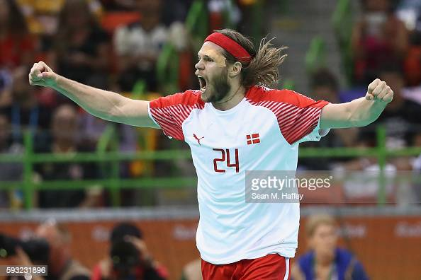 Mikkel Hansen Of Denmark Reacts During The First Half Against France Picture Rene Toft