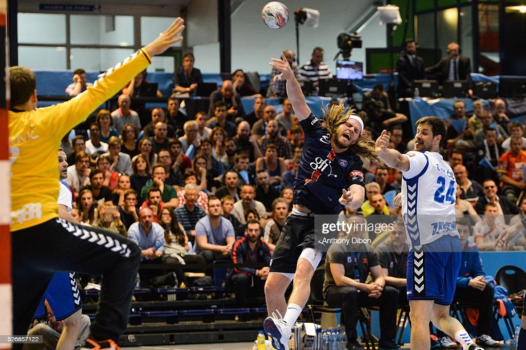 Mikkel Hansen of PSG during the EHB Handball Champions League match, second Leg, Round of 8, between Paris Saint Germain and HC Zagreb on May 1, 2016 in Paris, France.