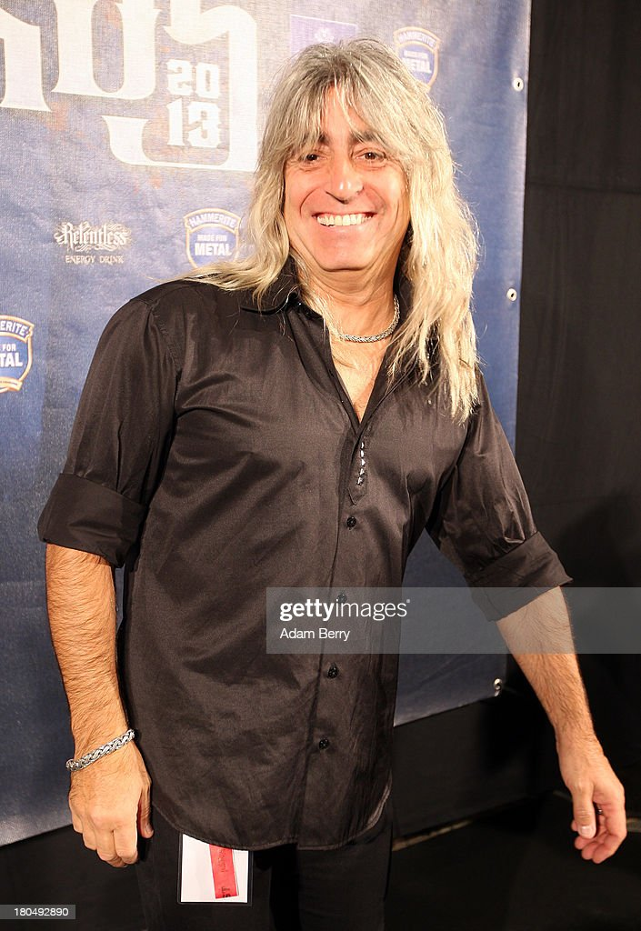 Mikkey Dee, drummer of the band Motoerhead, arrives for the fifth Metal Hammer Awards at Kesselhaus on September 13, 2013 in Berlin, Germany. The annual prizes are given by Metal Hammer, a German music magazine specialized in Heavy Metal and Hard Rock.
