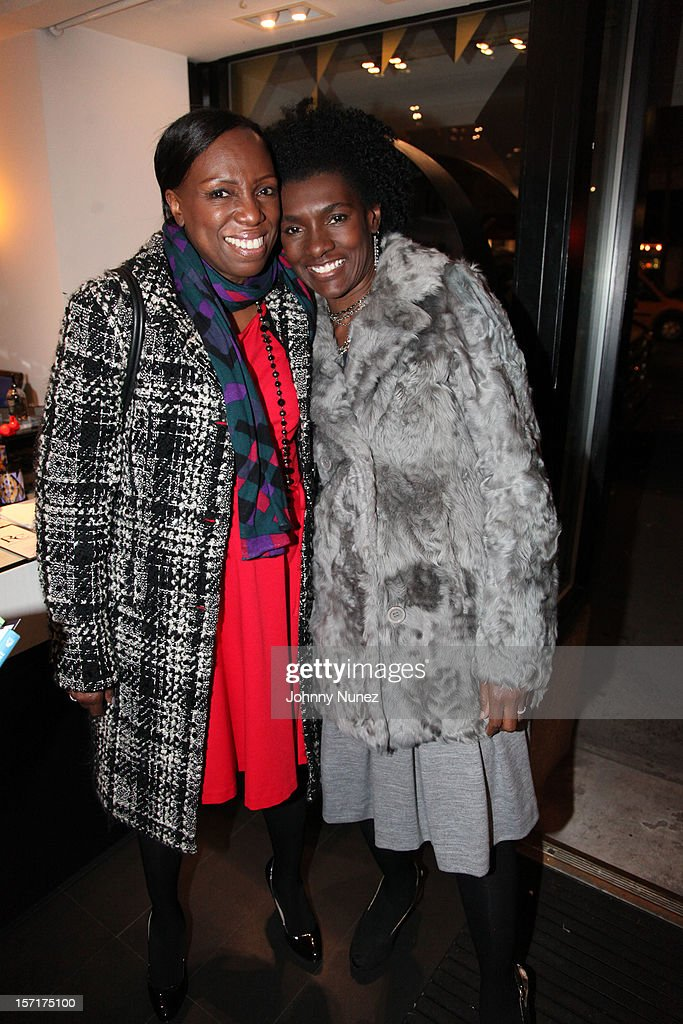 Mikki Taylor and Editor-in-Chief of Essence Magazine Constance C.R. White attend the Reserv Concierge & Diptyque holiday shopping party at the Diptyque Store on November 29, 2012 in New York City.