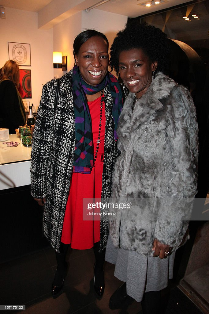 <a gi-track='captionPersonalityLinkClicked' href=/galleries/search?phrase=Mikki+Taylor&family=editorial&specificpeople=829096 ng-click='$event.stopPropagation()'>Mikki Taylor</a> and Editor-in-Chief of Essence Magazine Constance C.R. White attend the Reserv Concierge & Diptyque holiday shopping party at the Diptyque Store on November 29, 2012 in New York City.