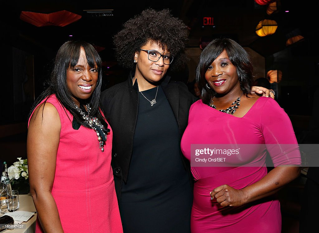 <a gi-track='captionPersonalityLinkClicked' href=/galleries/search?phrase=Mikki+Taylor&family=editorial&specificpeople=829096 ng-click='$event.stopPropagation()'>Mikki Taylor</a>, Julie Wilson and Bevy Smith attend the 2013 Black Girls Rock Shot Callers Dinner on October 25, 2013 in New York City.