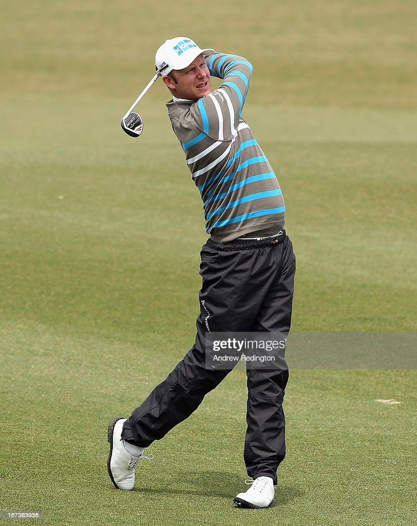 Mikko Ilonen of Finland in action during the first round of the Ballantine's Championship at Blackstone Golf Club on April 25, 2013 in Icheon, South Korea.