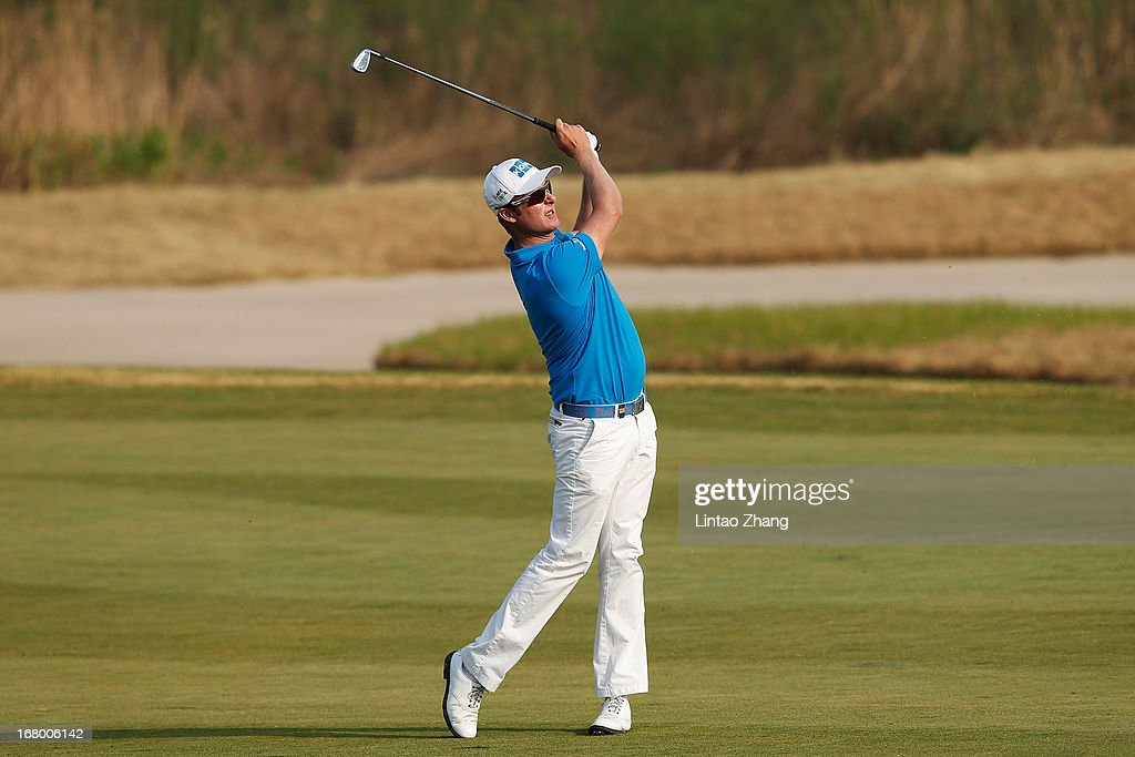 Mikko Ilonen of Finland plays a shot during the third day of the Volvo China Open at Binhai Lake Golf Course on May 4, 2013 in Tianjin, China.