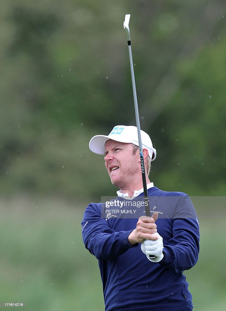 Mikko Ilonen of Finland plays his second shot on the fourth fairway during the first round of the Irish Open golf championship at Carton House Golf Club, Maynooth, Ireland on June 27, 2013.