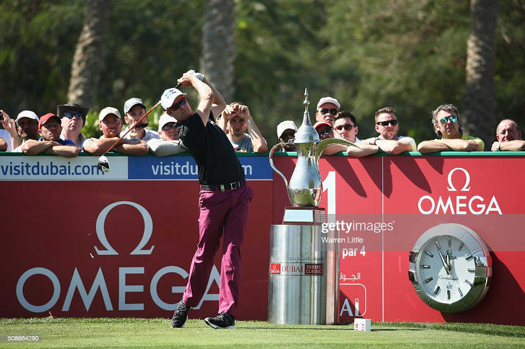 <a gi-track='captionPersonalityLinkClicked' href=/galleries/search?phrase=Mikko+Ilonen&family=editorial&specificpeople=215042 ng-click='$event.stopPropagation()'>Mikko Ilonen</a> of Finland tees off on the 1st hole during the final round of the Omega Dubai Desert Classic at the Emirates Golf Club on February 7, 2016 in Dubai, United Arab Emirates.