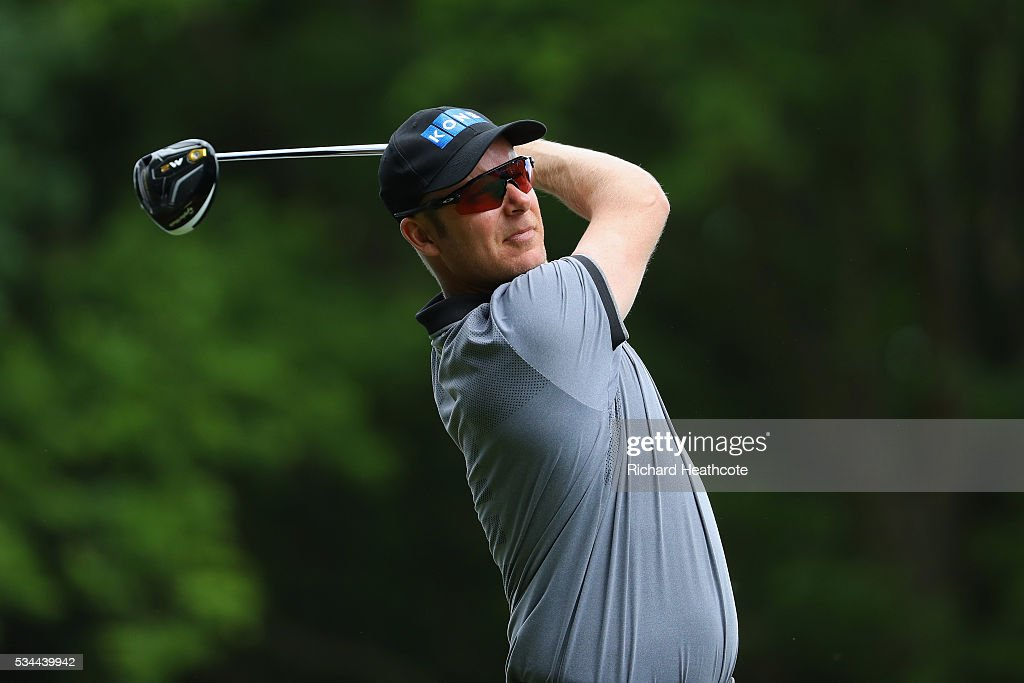 <a gi-track='captionPersonalityLinkClicked' href=/galleries/search?phrase=Mikko+Ilonen&family=editorial&specificpeople=215042 ng-click='$event.stopPropagation()'>Mikko Ilonen</a> of Finland tees off on the 3rd hole during day one of the BMW PGA Championship at Wentworth on May 26, 2016 in Virginia Water, England.