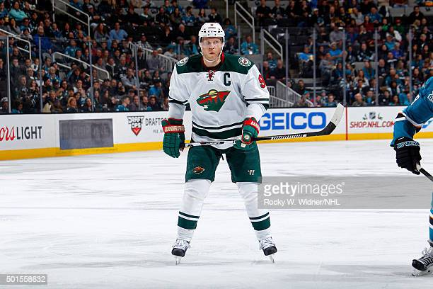 Mikko Koivu of the Minnesota Wild looks on during the game against the San Jose Sharks at SAP Center on December 12 2015 in San Jose California