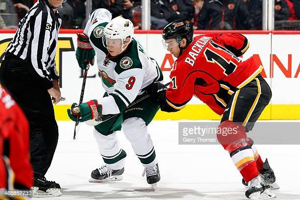 Mikko Koivu of the Minnesota Wild skates against the Calgary Flames at Scotiabank Saddledome on February 18 2015 in Calgary Alberta Canada The Wild...