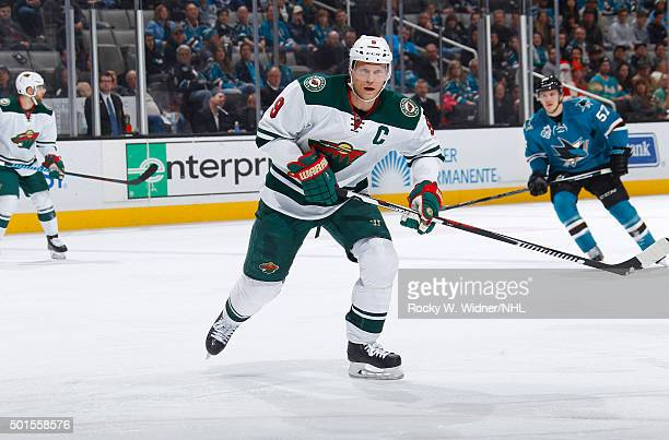 Mikko Koivu of the Minnesota Wild skates against the San Jose Sharks at SAP Center on December 12 2015 in San Jose California