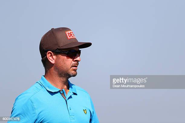 Mikko Korhonen of Finland looks on at the 9th during the first round on day one of the KLM Open at The Dutch on September 8 2016 in Spijk Netherlands