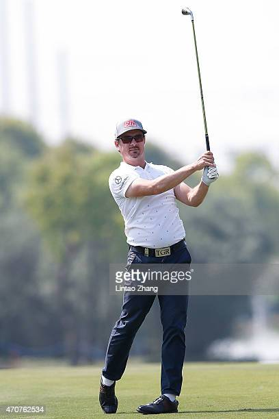 Mikko Korhonen of Finland plays a shot during the day one of the Volvo China Open at Tomson Shanghai Pudong Golf Club on April 23 2015 in Shanghai...