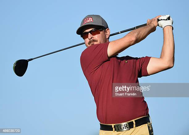 Mikko Korhonen of Finland plays a shot during the fifth round of the European Tour qualifying school final stage at PGA Catalunya Resort on November...