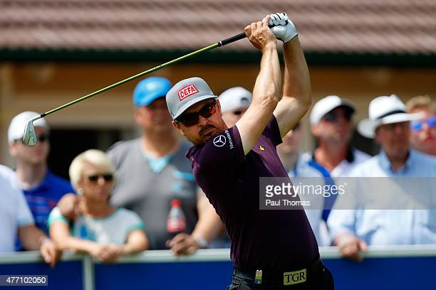 Mikko Korhonen of Finland tees off during the Lyoness Open day four at the Diamond Country Club on June 14 2015 in Atzenbrugg Austria