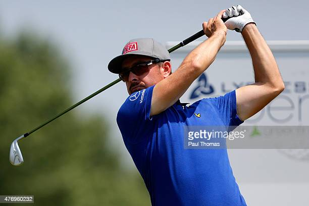 Mikko Korhonen of Finland tees off during the Lyoness Open day three at the Diamond Country Club on June 13 2015 in Atzenbrugg Austria