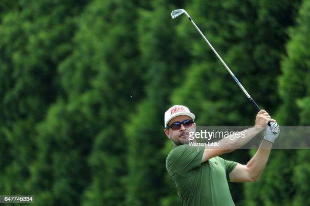 Mikko Korhonen of Finland tees off on the 5th during day three of the Tshwane Open at Pretoria Country Club on March 4 2017 in Pretoria South Africa