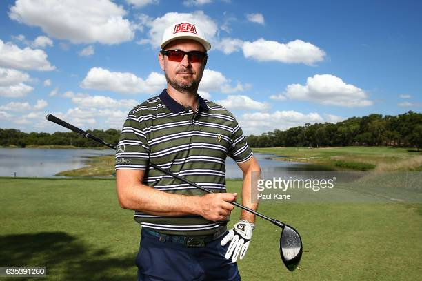 Mikko Korhonen of the Finland poses during previews ahead of the ISPS HANDA World Super 6 Perth at Lake Karrinyup Country Club on February 15 2017 in...