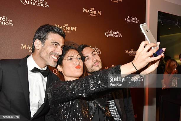 Miko Cauet Leslie Benaroch and Alban Bartoli attend La Foret des Quinconces Party and Feu Chatterton Concert during the 69th annual Cannes Film...
