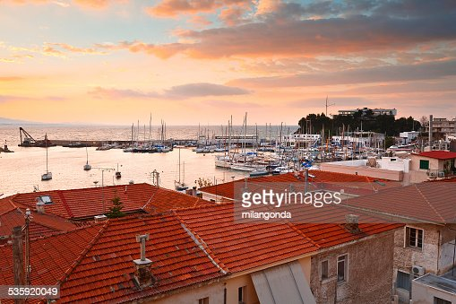 Mikrolimano marina in Athens. : Stock Photo