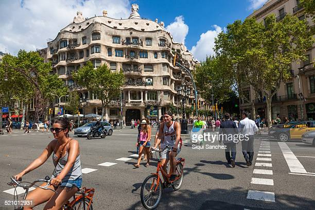 Milá House 'La Pedrera' Modernist building of Antonio Gaudi Barcelona Spain