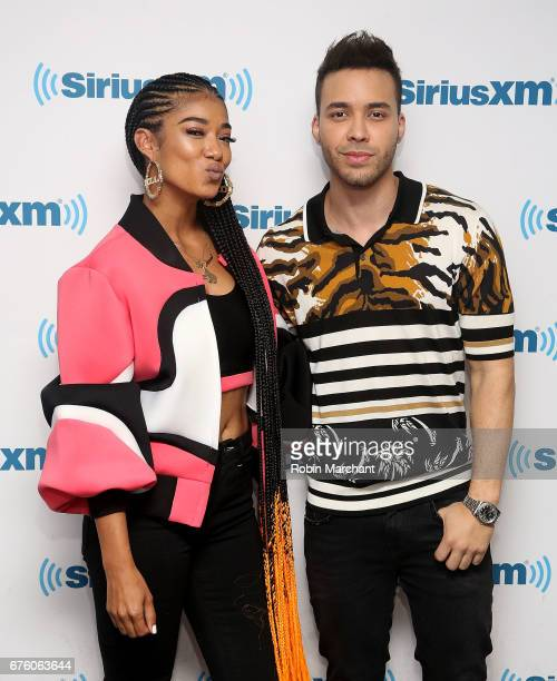 Mila J and Prince Royce visit at SiriusXM Studios on May 2 2017 in New York City