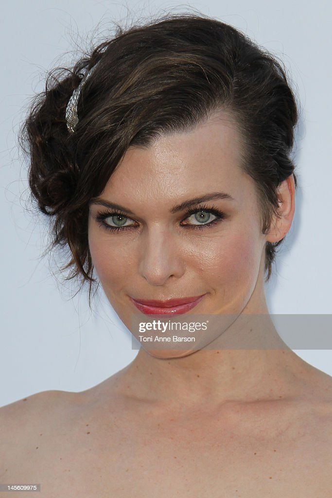 Mila Jovovich arrives at amfAR's Cinema Against AIDS at Hotel Du Cap on May 24, 2012 in Antibes, France.