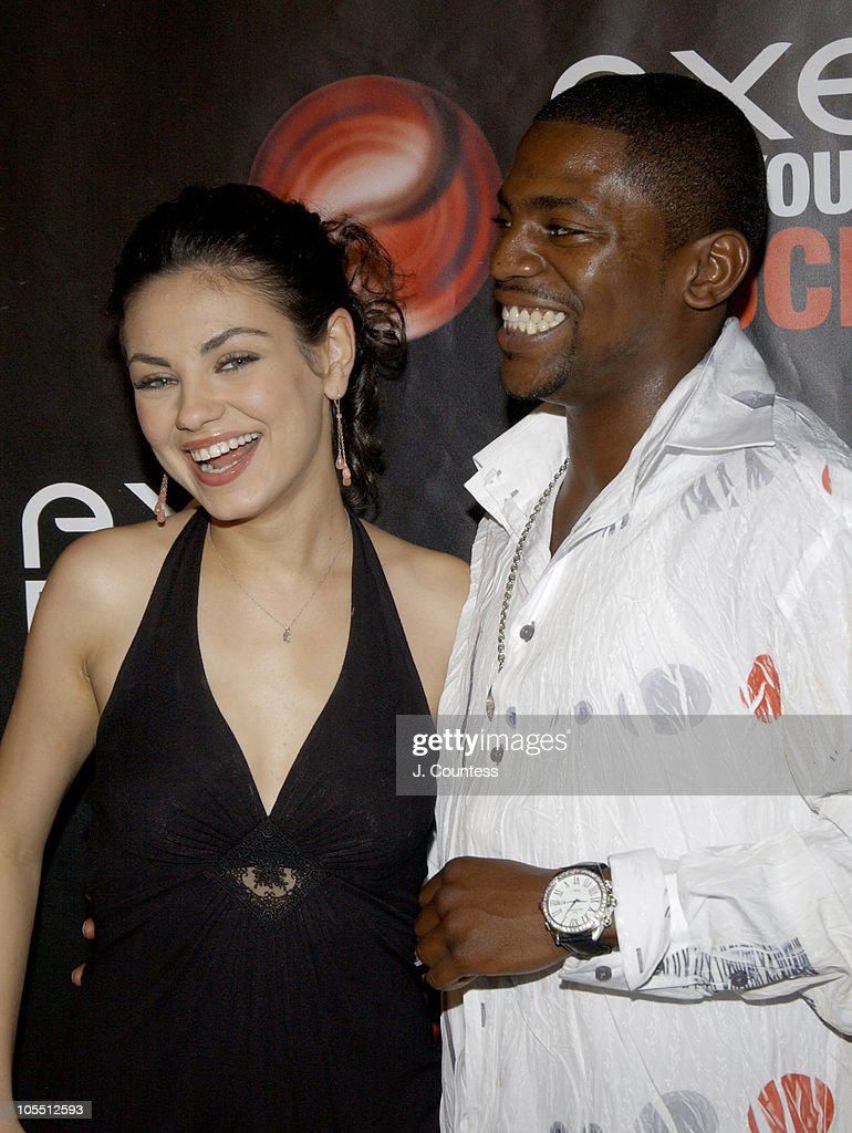 <a gi-track='captionPersonalityLinkClicked' href=/galleries/search?phrase=Mila+Kunis&family=editorial&specificpeople=212845 ng-click='$event.stopPropagation()'>Mila Kunis</a> and <a gi-track='captionPersonalityLinkClicked' href=/galleries/search?phrase=Mekhi+Phifer&family=editorial&specificpeople=213382 ng-click='$event.stopPropagation()'>Mekhi Phifer</a> during AXE Find Your Touch 'Dark' Party at Guccione Mansion in New York City, New York, United States.