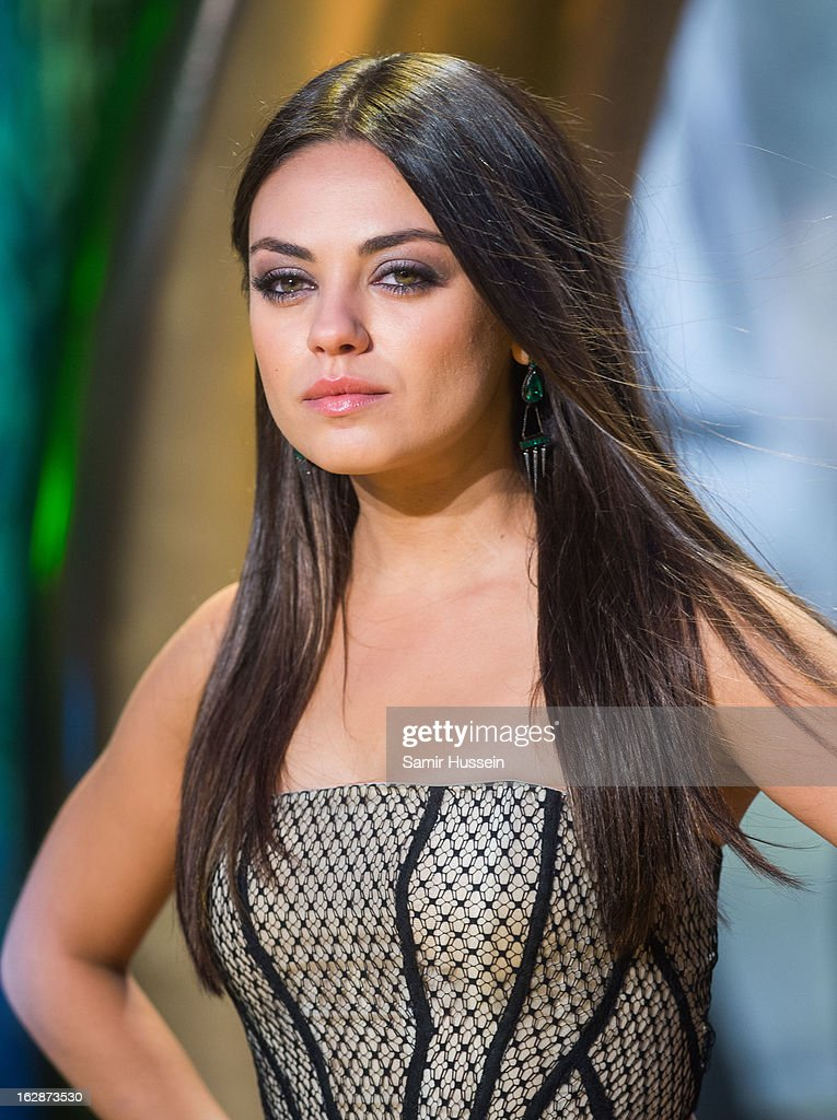 Mila Kunis arrives for the 'Oz: The Great And Powerful' European premiere at the Empire Leicester Square on February 28, 2013 in London, England.