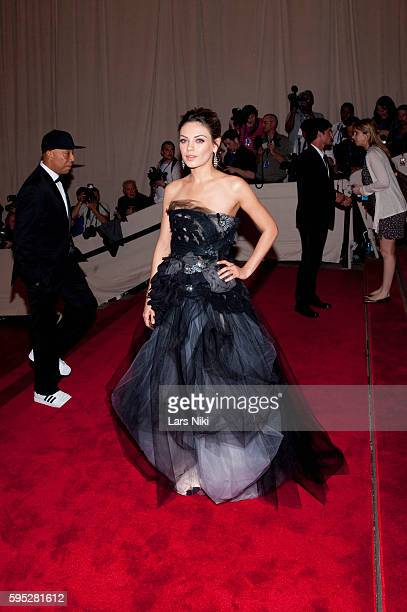 Mila Kunis attends 'American Woman Fashioning A National Identity' Costume Institute Gala at The Metropolitan Museum of Art in New York City