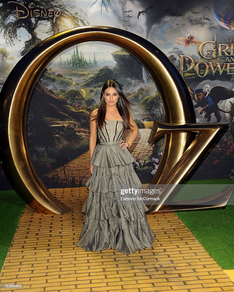 Mila Kunis attends the European Premiere of 'Oz: The Great and Powerful' at Empire Leicester Square on February 28, 2013 in London, England.