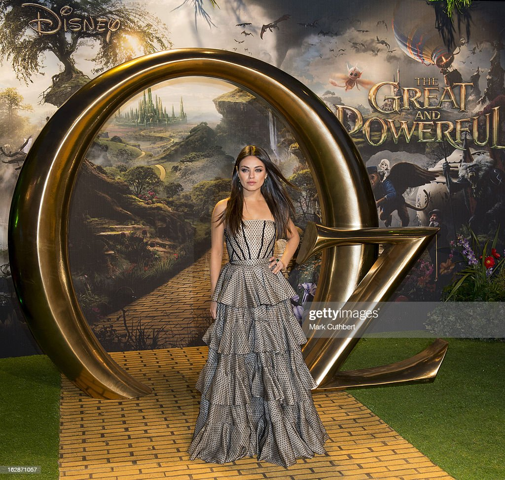 <a gi-track='captionPersonalityLinkClicked' href=/galleries/search?phrase=Mila+Kunis&family=editorial&specificpeople=212845 ng-click='$event.stopPropagation()'>Mila Kunis</a> attends the European premiere of 'Oz: The Great and Powerful' at Empire Leicester Square on February 28, 2013 in London, England.
