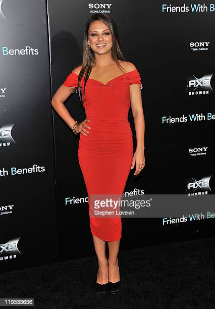 Mila Kunis attends the 'Friends with Benefits' premiere at Ziegfeld Theater on July 18 2011 in New York City