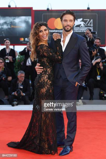 Mila Suarez and Alex Belli attend the 'Racer And The Jailbird ' photocall during the 74th Venice Film Festival at Sala Casino on September 8 2017 in...