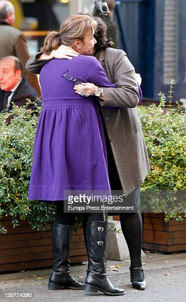 Mila Ximenez and Charo Lopez are seen on December 13 2011 in Madrid Spain