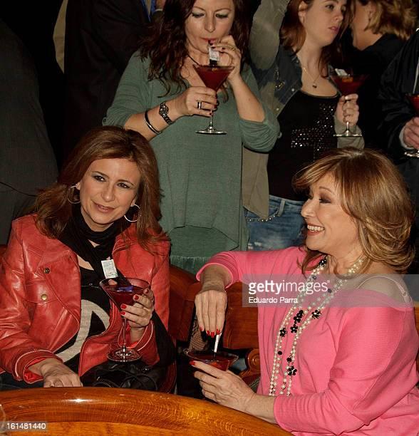 Mila Ximenez attends Jorge Javier Vazquez's Golden Book party at Gran Melia Fenix hotel on February 11 2013 in Madrid Spain