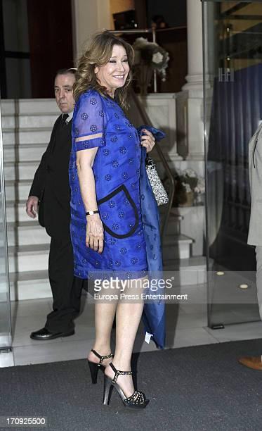 Mila Ximenez attends the wedding of Carlota Corredera and Carlos de la Maza on June 15 2013 in Madrid Spain Carlota Corredera is director of 'Salvame...
