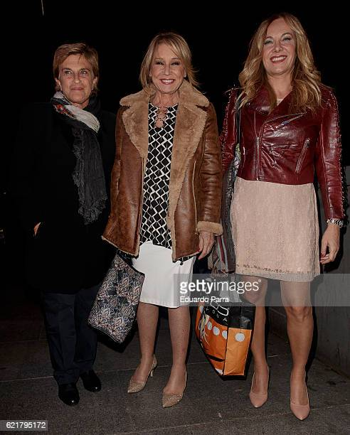 Mila Ximenez Belen Rodriguez and Chelo Garcia Cortes attend the Carmen Borrego birthday party on November 8 2016 in Madrid Spain