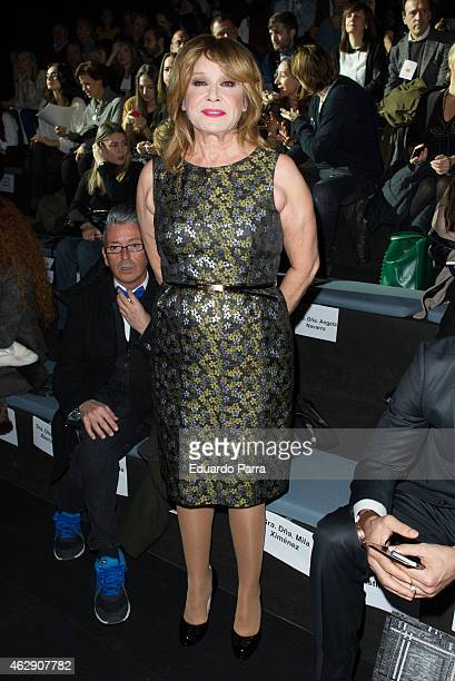 Mila Ximenez is seen attending the catwalks during Madrid Fashion Week Fall/Winter 2015/16 at Ifema on February 7 2015 in Madrid Spain