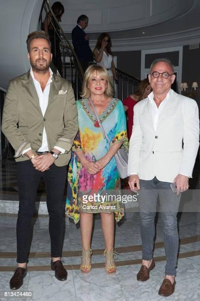 Mila Ximenez Raul Prieto and Joaquin Torres attend the presentation of the new book 'Frente Al Espejo' at Hotel Villamagna on July 12 2017 in Madrid...