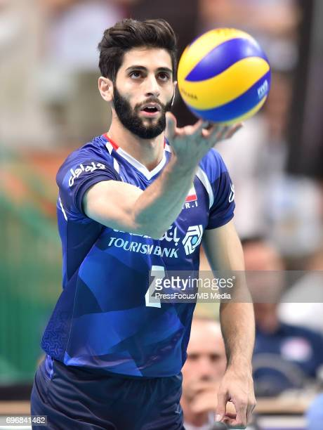 Milad Ebadipour Ghara H during the FIVB World League 2017 match between Iran and USA at Arena Spodek on June 15 2017 in Katowice Poland