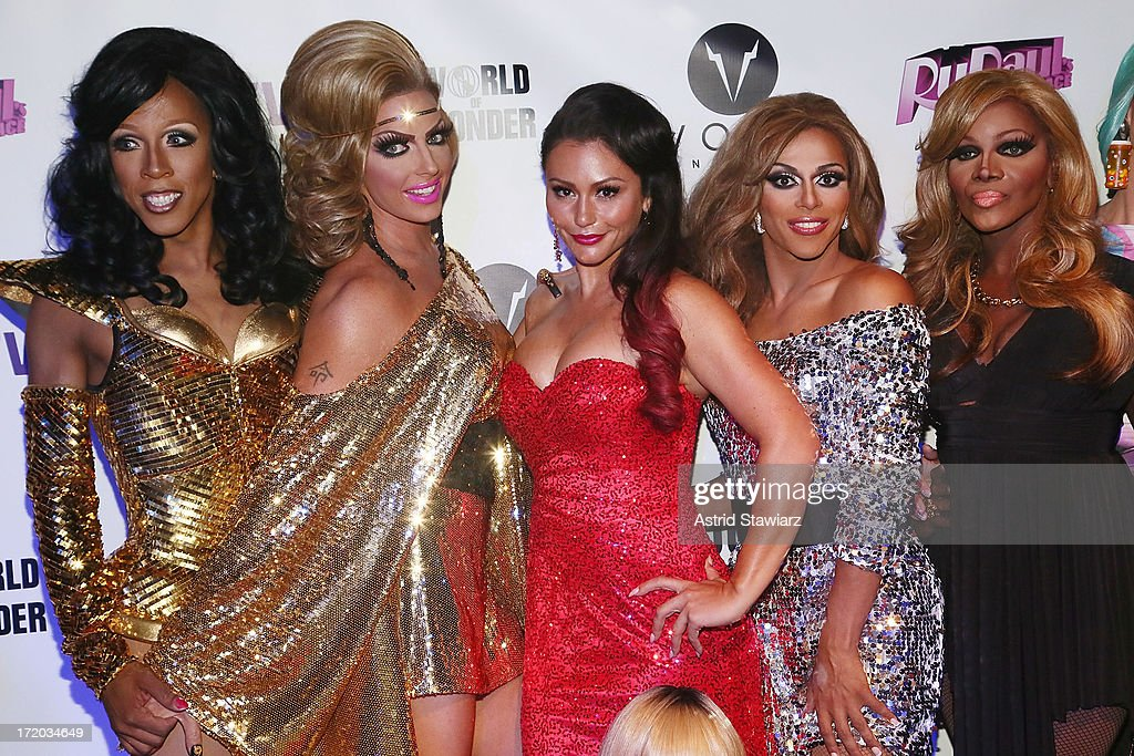 Milan, Alyssa Edwards, TV personality Jenni 'Jwoww' Farley, Shangela and Coco Montrese attend Logo TV's Official Pride NYC 2013 Event at Highline Ballroom on June 30, 2013 in New York City.