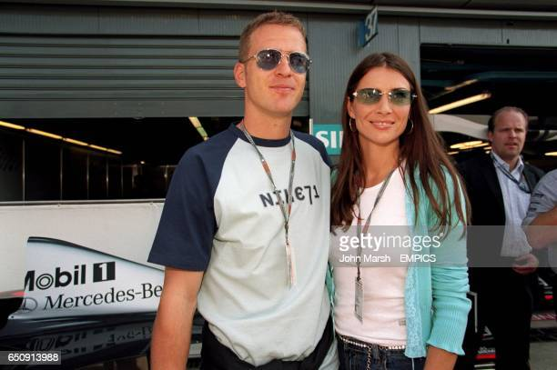 AC Milan and Germany striker Oliver Bierhoff and his girlfriend Klara