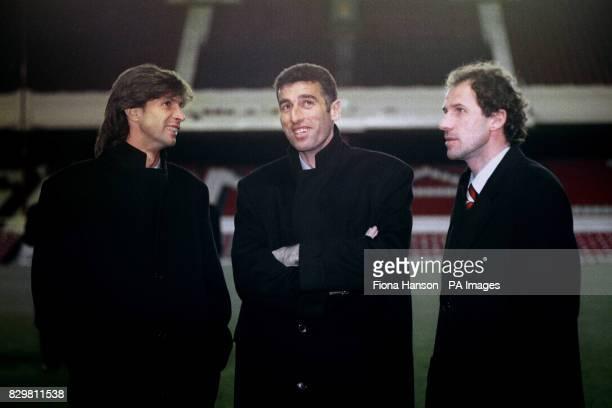 AC Milan at Highbury the night before the match Roberto Donadoni Mauro Tassotti and Franco Baresi