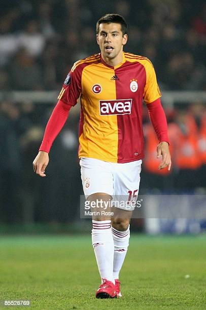 Milan Baros of Istanbul during the UEFA Cup Round of 16 second leg match between Galatasaray Istanbul and Hamburger SV at the Ali Sami Yen stadium on...